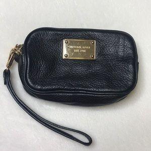 Michael Kors leather double zip wristlet